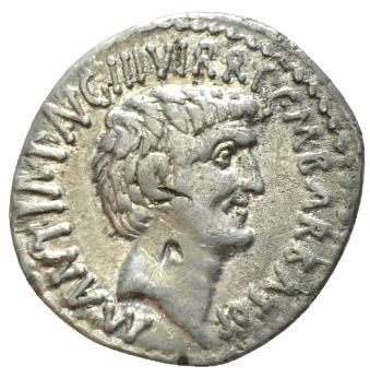 Roman Republican, Mark Antony & Octavianus, Denarius - Rev