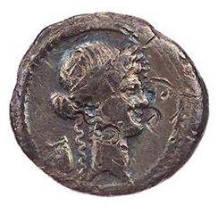 Roman Republican, P Clodius, Denarius - Obv