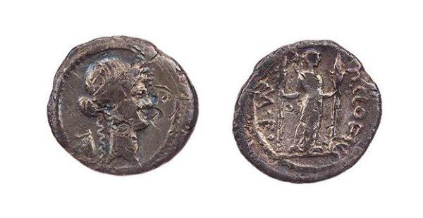 Roman Republican, P Clodius, Denarius