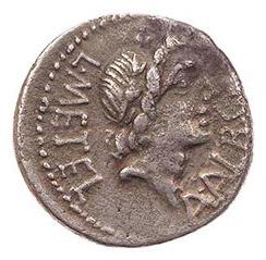 Roman Republican, L Caecilius Metellus, Denarius - Obv