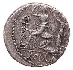 Roman Republican, L Caecilius Metellus, Denarius - Rev
