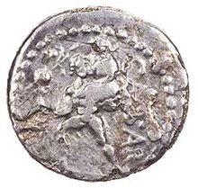 Roman Republican, Julius Caesar, Denarius - Rev