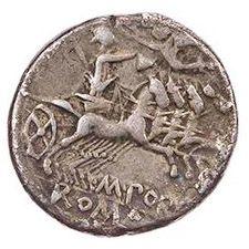 Roman Republican, M Porcius Laeca, Denarius - Rev
