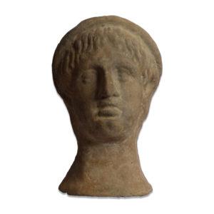Etruscan terracotta votive male head
