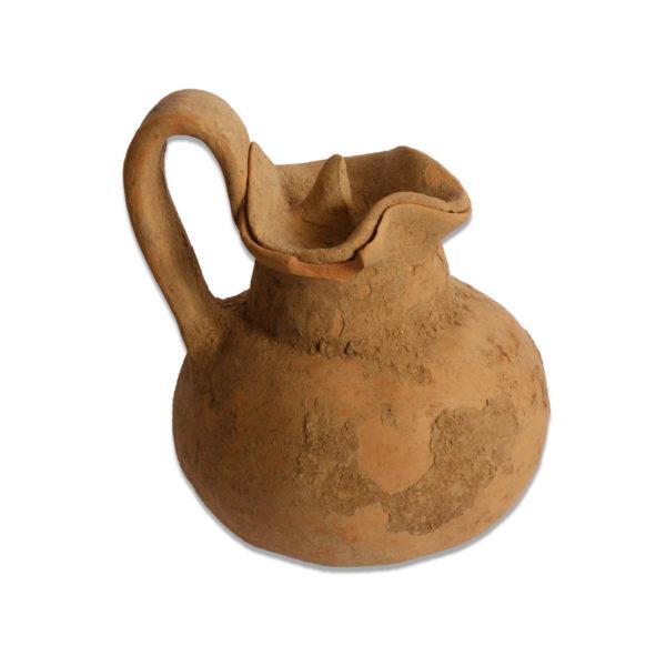 Greek Daunian tre-foil pitcher with lid
