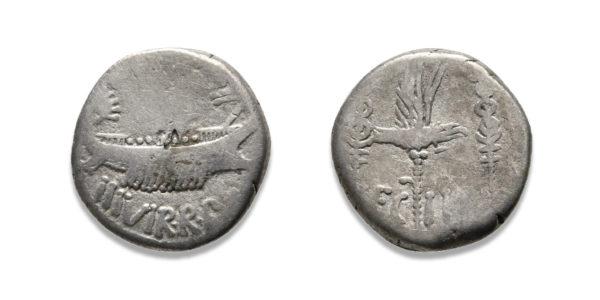 Roman Republican, Mark Antony, Denarius - LEG II