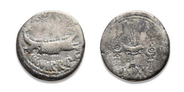 Roman Republican, Mark Antony, Denarius - LEG XV
