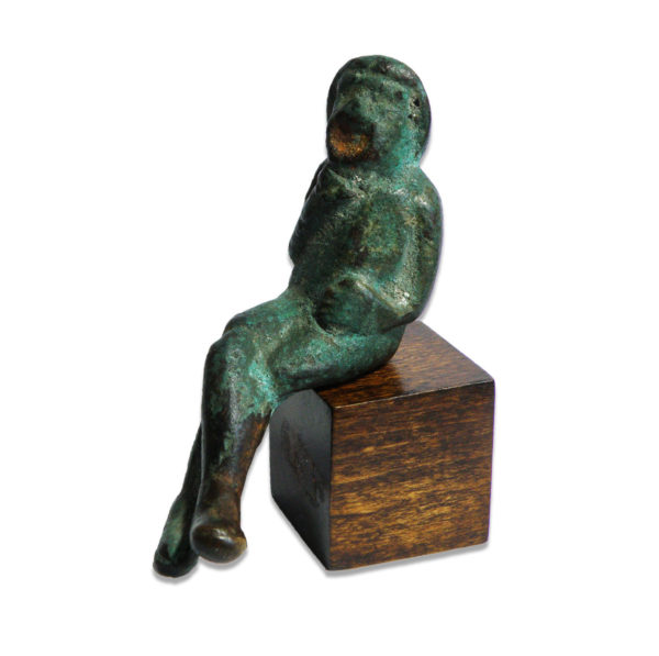 Roman comic actor seated figurine
