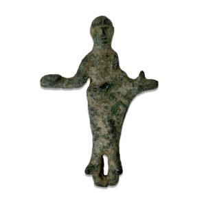 Etruscan statuette of a priest with patera