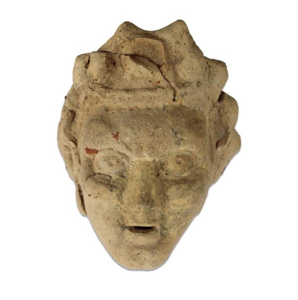 Greek mask of youthful satyr