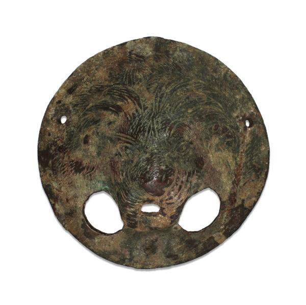 Roman lion door handle