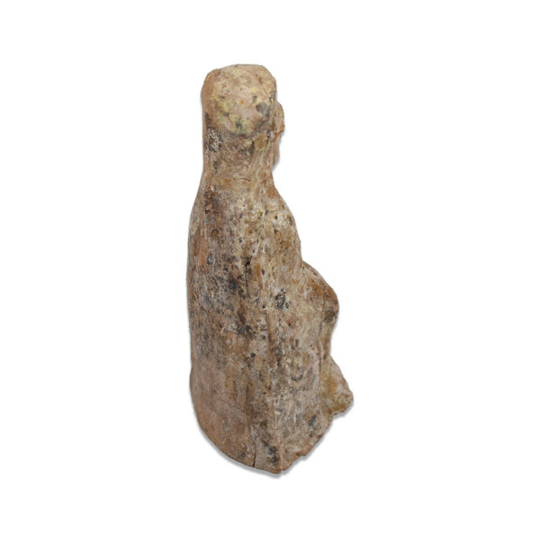 Greek statuette of a goddess wearing polos