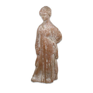 Greek statuette of a standing woman