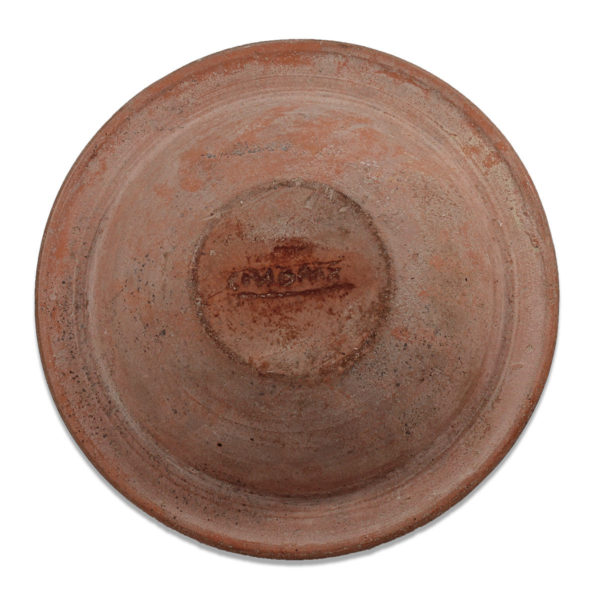 Roman plate with maker's mark
