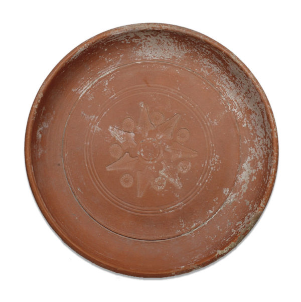 Roman plate with vegetal decoration