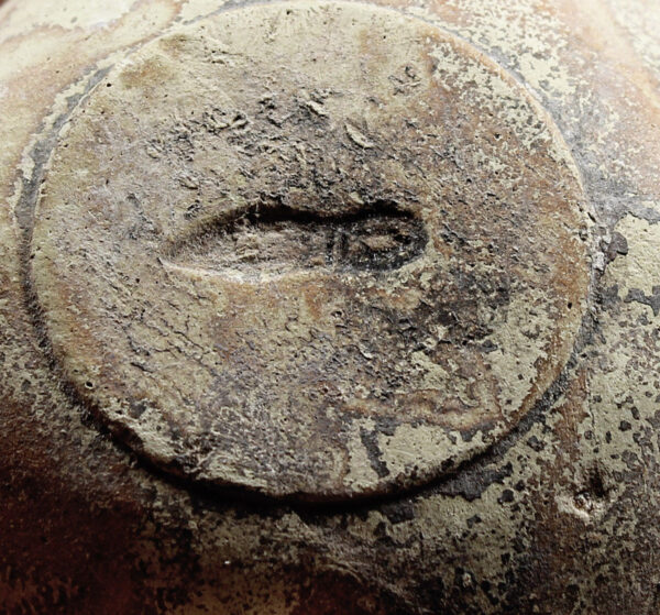 Roman oil lamp with twin Eros