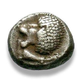Ionia, Miletos, Diobol - Obv