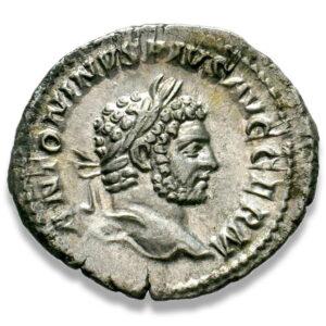 Roman Imperial, Caracalla, Denarius - Obv