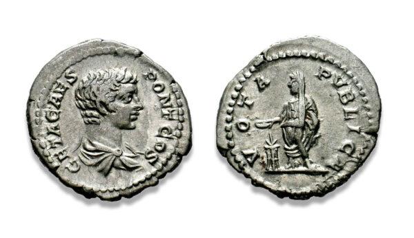 Roman Imperial, Geta, Denarius