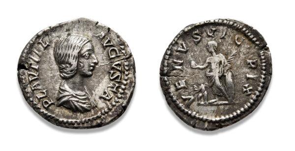 Roman Imperial, Plautilla, Denarius