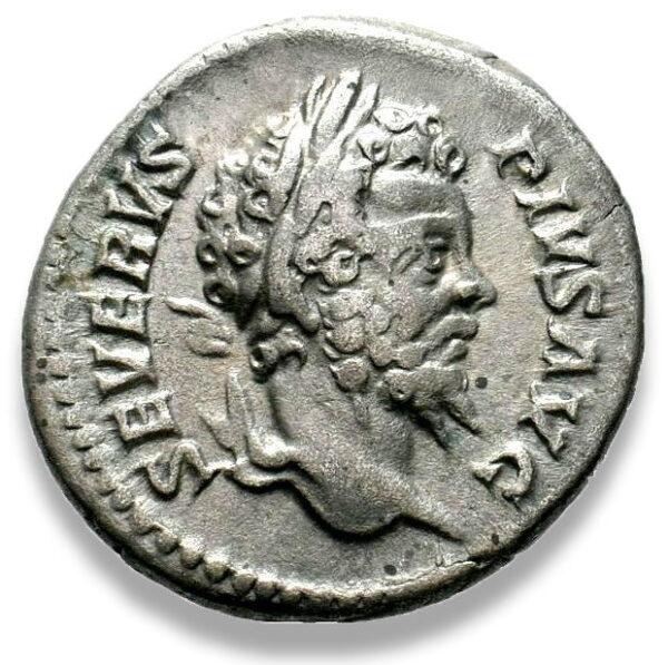 Roman Imperial, Septimius Severus, Denarius - Obv