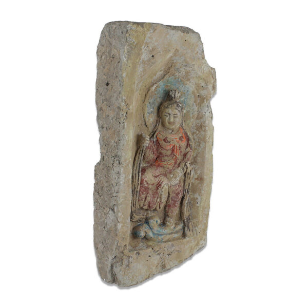 Chinese brick with a Buddha