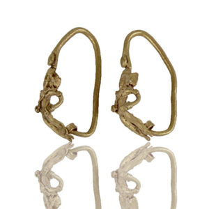 Greek earrings with Eros