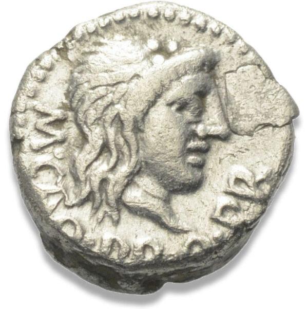 Roman Republican, M. Porcius Cato, Quinarius - Obv