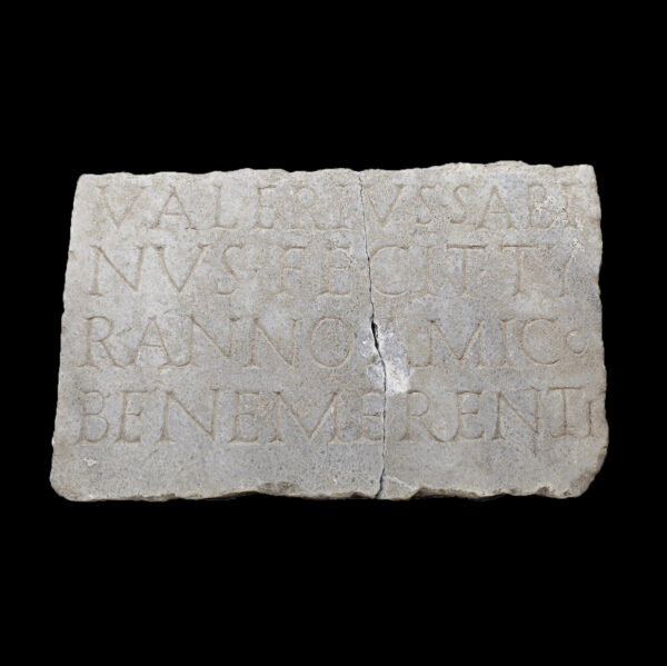 Roman funerary stele with inscription