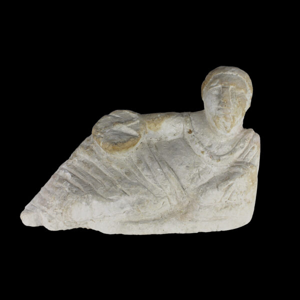Etruscan lid of a cinerary urn with a reclining figure