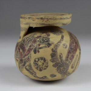 Greek aryballos with lion and goat