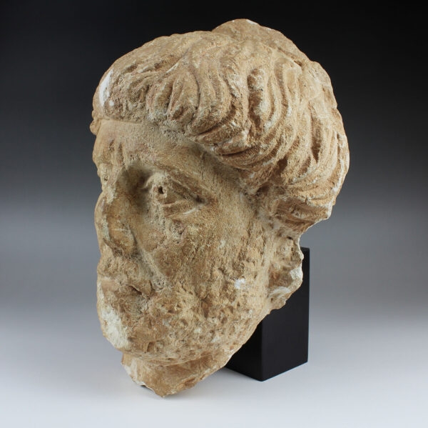 Roman portrait head of a bearded man