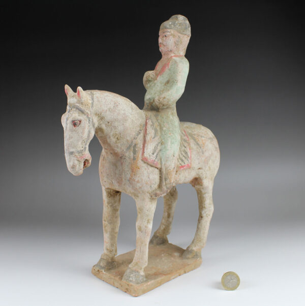 Chinese statuette of a rider with horse