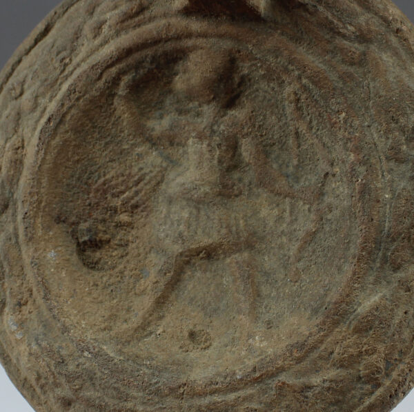 Roman oil lamp with Diana with bow