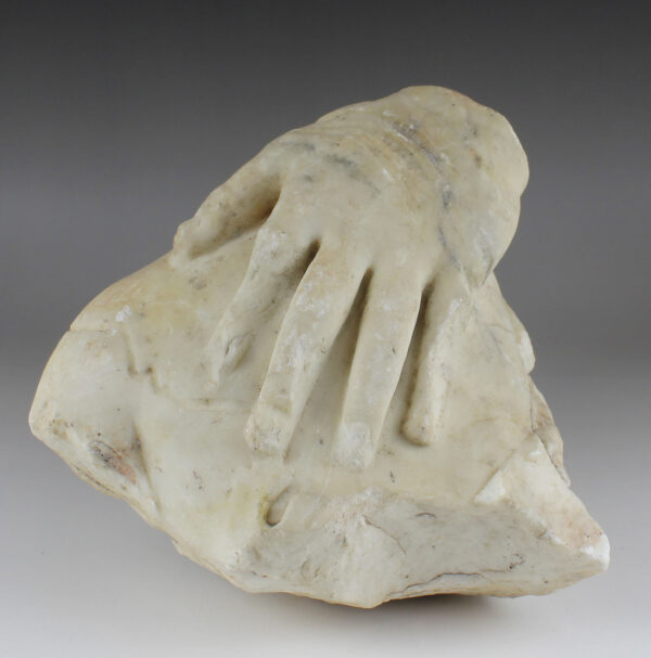 Roman fragment with hand